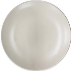 Prato Raso em Cerâmica 24cm Bege
