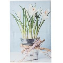 Quadro Decorativo Lírios No Vaso 40cmx60cm - Importado