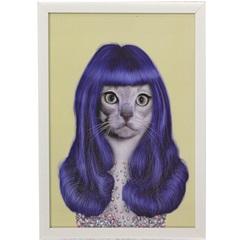 Quadro em Acrílico Divertido Cat Perry 40x30cm - Casanova
