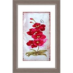 Quadro em Mdf com Vidro Orquídeas 29x19cm - Euroquadros