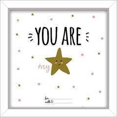 Quadro em Mdf You Are My Star 24x24cm - Euroquadros
