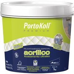 Rejunte Acrílico Premium Branco 1kg - Portokoll