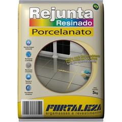 Rejunte Resinado para Porcelanato Cinza 5kg - Fortaleza