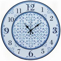 Relógio de Parede em Mdf Redondo Aveiro 45cm Azul - Zdecor