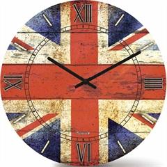 Relógio de Parede em Mdf Redondo Wood Max 33,5cm Colorido - Relobraz