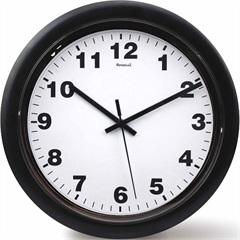 Relógio de Parede em Plástico Redondo 30cm Branco E Preto - Relobraz