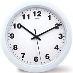 Relógio de Parede em Plástico Redondo 30cm Branco - Relobraz