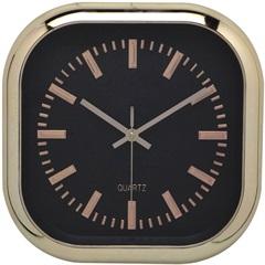 Relógio de Parede Quadrado 30,5cm Dourado E Preto - Importado
