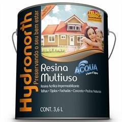 Resina Acrílica Impermeabilizante Multiuso Acqua Cinza 3,6 Litros - Hydronorth