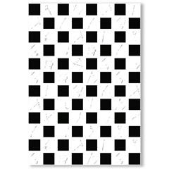Revestimento Brilhante Borda Bold Dhama Branco E Preto 32x45cm