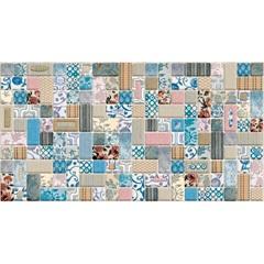 Revestimento Tessuti Patch Retificado Esmaltado Decorado 33,8x64,3cm - Ceusa