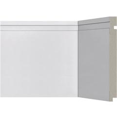 Rodapé em Poliestireno Moderna 505 Branco 20x240cm - Santa Luzia