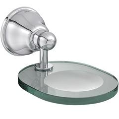 Saboneteira de Parede em Vidro Belle Époque Cromada E Transparente - Deca