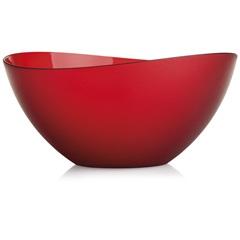 Saladeira Wave Cristal 4 Litros Vermelha - Martiplast
