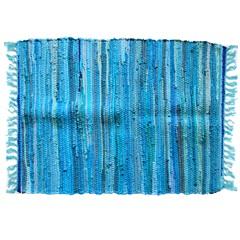 Tapete em Algodão 80x50cm Azul - Casanova
