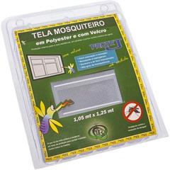 Tela Mosquiteiro em Poliéster Protej com Velcro 105x125cm Branca