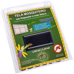 Tela Mosquiteiro em Poliéster Protej com Velcro 125x105cm Preta