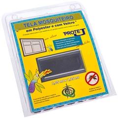 Tela Mosquiteiro em Poliéster Protej com Velcro 125x125cm Cinza