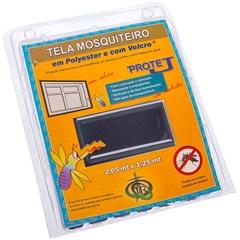 Tela Mosquiteiro em Poliéster Protej com Velcro 125x205cm Cinza