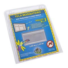 Tela Mosquiteiro em Poliéster Protej com Velcro 155x125cm Branca - VR