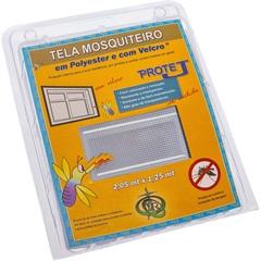Tela Mosquiteiro em Poliéster Protej com Velcro 205x125cm Branca - VR