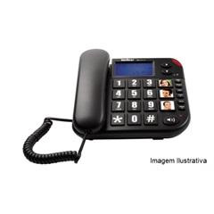 Telefone com Fio com Identificação de Chamadas E Viva Voz Tok Facil Id
