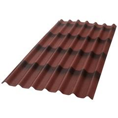 Telha Ecológica Stilo 3d Vermelha 195x96cm
