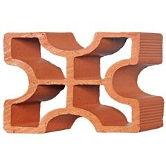 Tijolo Vazado Diagonal Cruz 25x18x7cm - Martins