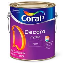 Tinta Acrílica Decora Fosco Branco 3.6 Litros - Coral