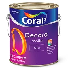 Tinta Acrílica Decora Fosco Palha 3.6 Litros - Coral