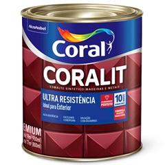 Tinta Esmalte Coralit Fosco Preto 900ml - Coral