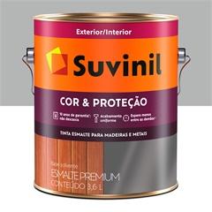 Tinta Esmalte Premium Brilhante Cor & Proteção Alumínio 3,6 Litros - Suvinil