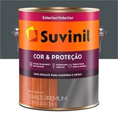 Tinta Esmalte Premium Brilhante Cor & Proteção Cinza Escuro 3,6 Litros - Suvinil