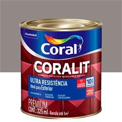 Tinta Esmalte Sintético Premium Brilhante Coralit Tradicional Alumínio 225ml - Coral