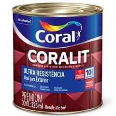 Tinta Esmalte Sintético Premium Brilhante Coralit Tradicional Preto 225ml - Coral
