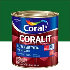 Tinta Esmalte Sintético Premium Brilhante Coralit Tradicional Verde Folha 225ml - Coral