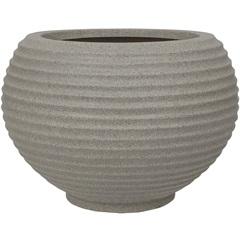 Vaso em Polietileno Oval Bromélia 32cm Pedra
