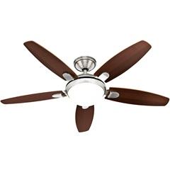 Ventilador de Teto com Luminária 67w 110v Contempo com 5 Pás Níquel E Cerejeira - Hunter Fan