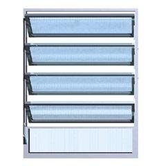 Vitrô Basculante 100x80 1 Seção Max Vidro Canelado - Ebel