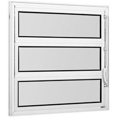 Vitrô Basculante de Alumínio 1 Seção Vidro Mini Boreal Branco 60x100cm