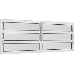 Vitrô Basculante de Alumínio 2 Seções Vidro Mini Boreal Branco Una 60x120cm - Casanova