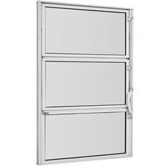 Vitrô Basculante de Alumínio Vidro Mini Boreal Branco Pop 60x40cm - Ebel