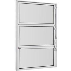 Vitrô Basculante de Alumínio Vidro Mini Boreal Branco Pop 60x60cm