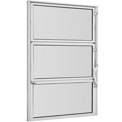 Vitrô Basculante de Alumínio Vidro Mini Boreal Branco Pop 60x80cm - Ebel