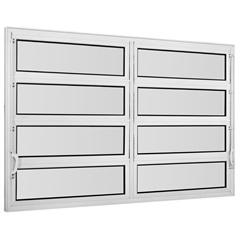 Vitrô Basculante em Alumínio Vidro Mini Boreal Una Branco 2 Seções  80x150cm       - Casanova