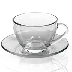 Xícara de Chá Astral com Pires Incolor - Nadir