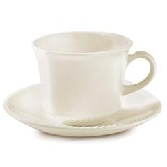 Xícara de Chá com Pires Perla 230ml com 2 Peças Bege - Corona