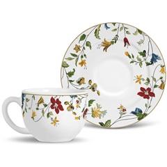 Xícara de Chá Flat Asturias Branco - Porto Brasil Cerâmica