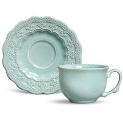 Xícara de Chá Peniche Verde 197ml - Porto Brasil Cerâmica