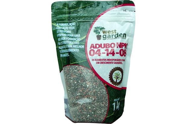 Adubo Npk 04-14-08 1kg - West Garden